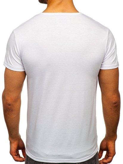 Bílé pánské tričko s potiskem Bolf SS11083