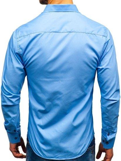 Blankytná pánská elegantní košile s dlouhým rukávem Bolf 8840