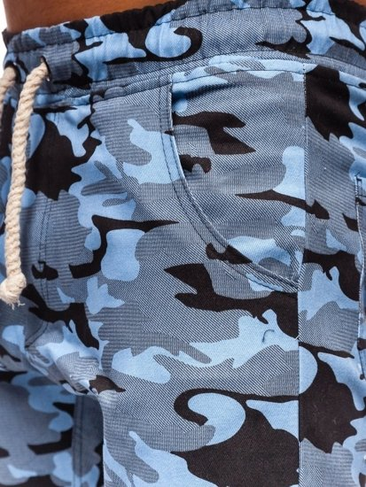Blankytné pánské maskáčové jogger kalhoty Bolf 0367