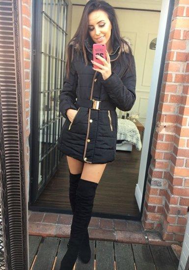 Černá dámská zimní bunda Bolf 19