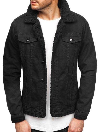 Černá pánská džínová bunda Bolf 1901