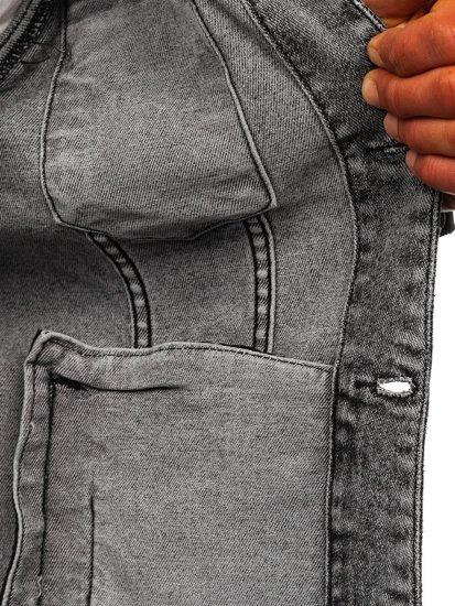Černá pánská džínová bunda Bolf 6616G