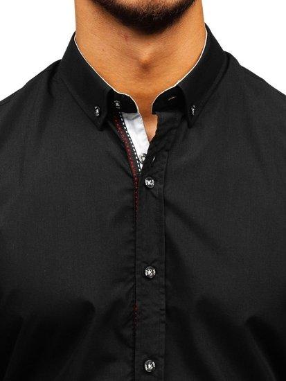 Černá pánská elegantní košile s dlouhým rukávem Bolf 8820