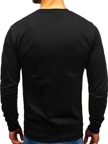 Černá pánská mikina bez kapuce Bolf 1221