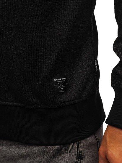 Černá pánská mikina bez kapuce Bolf 3671