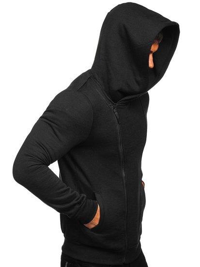 Černá pánská mikina na zip s kapucí Bolf 80680