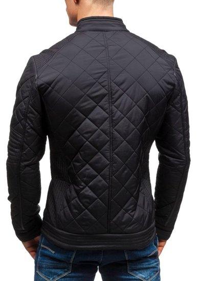 Černá pánská přechodová bunda Bolf 1078