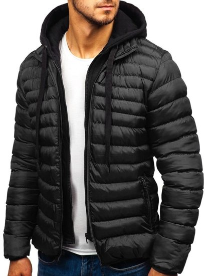 Černá pánská přechodová bunda Bolf SM05