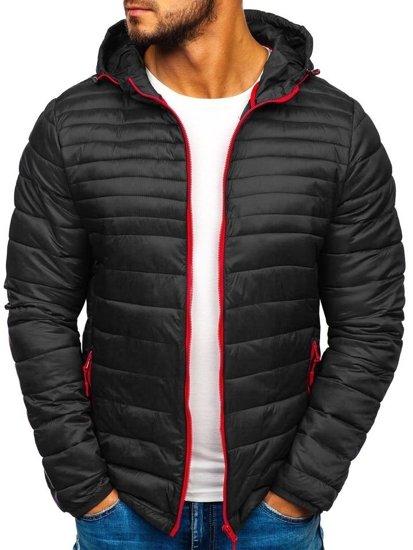 Černá pánská sportovní zimní bunda Bolf LY1012