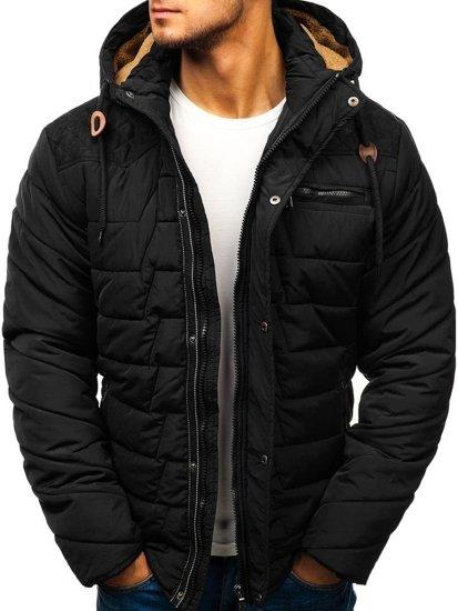 Černá pánská zimní bunda Bolf 1673