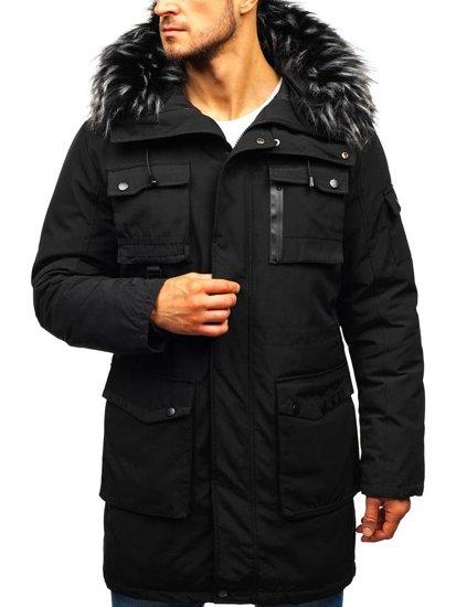Černá pánská zimní bunda Bolf 201808