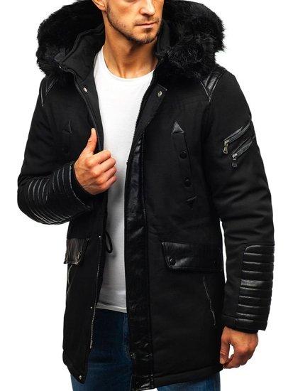 Černá pánská zimní bunda Bolf 99111