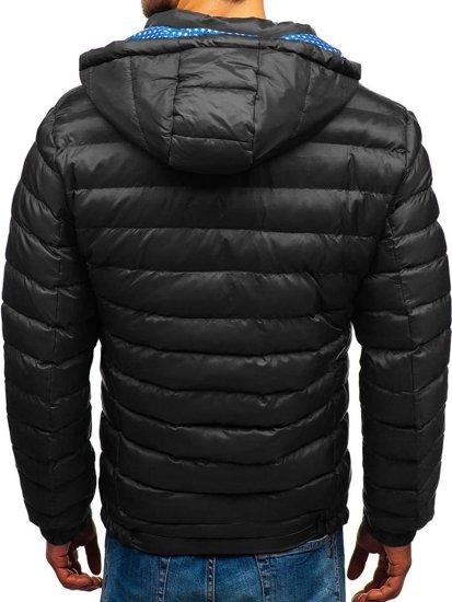 Černá pánská zimní bunda Bolf A211