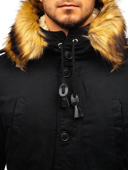 Černá pánská zimní parka Bolf 88709
