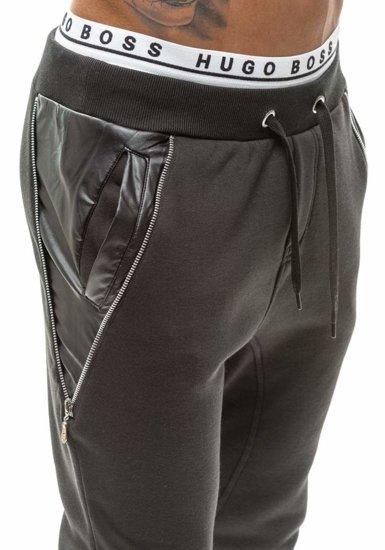 Černé pánské baggy kalhoty Bolf k14