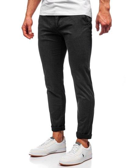 Černé pánské chino kalhoty Bolf 1146