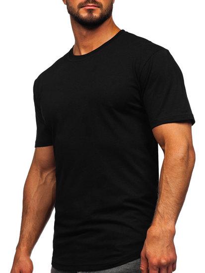 Černé pánské dlouhé tričko bez potisku Bolf 14290