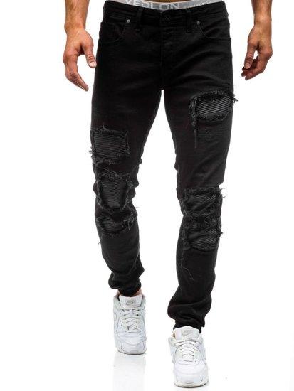 Černé pánské džínové jogger kahoty Bolf 820