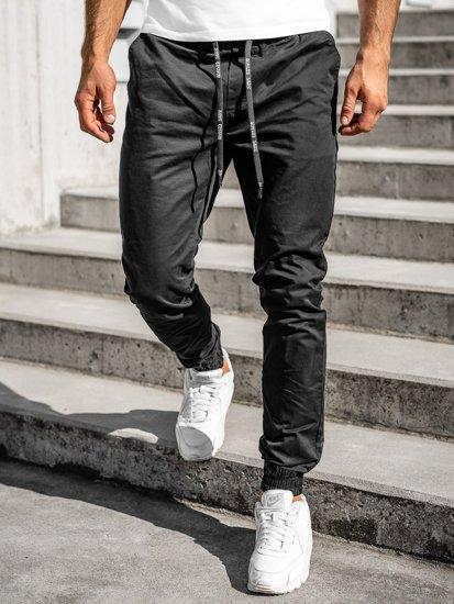 Černé pánské jogger kalhoty Bolf KA951