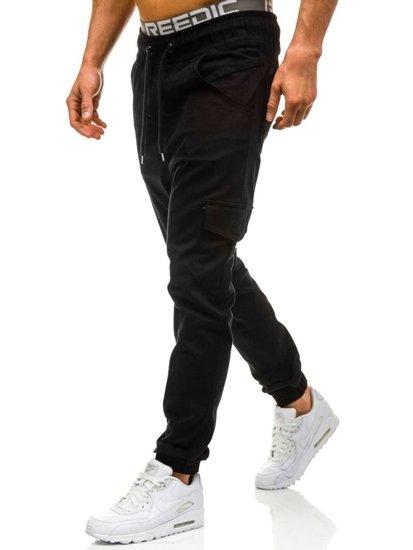 Černé pánské jogger kapsáče Bolf 0404GBR