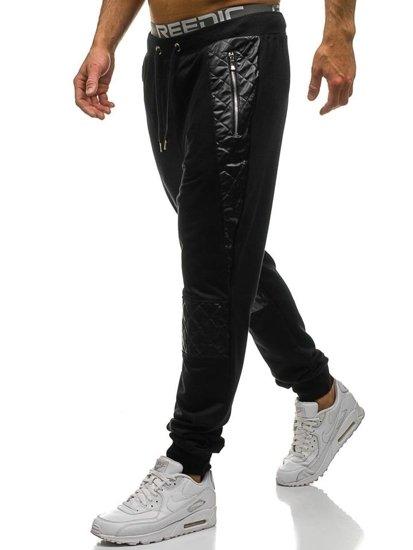 Černé pánské jogger tepláky Bolf 3779