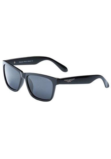 Černé pánské sluneční polarizační brýle Bolf PLS205B