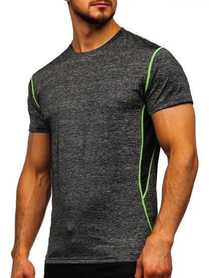 Černé pánské sportovní tričko bez potisku Bolf KS2104
