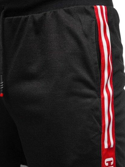 Černé pánské teplákové kraťasy Bolf KS2501