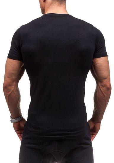 Černé pánské tričko s potiskem Bolf 1929