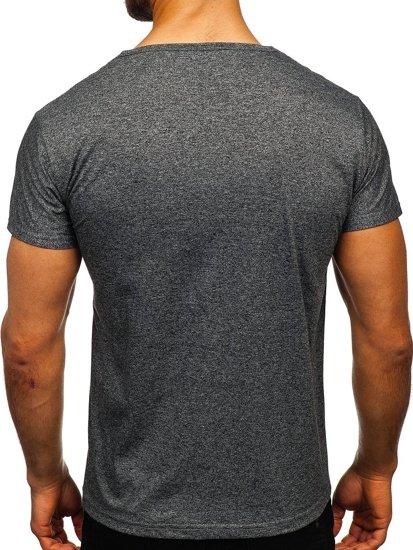 Černé pánské tričko s potiskem Bolf KS2052