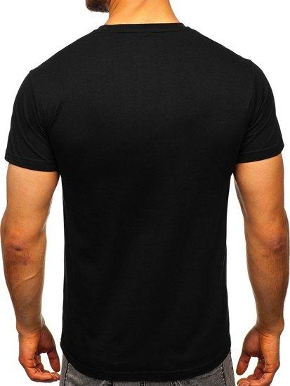Černé pánské tričko s potiskem Bolf KS2106