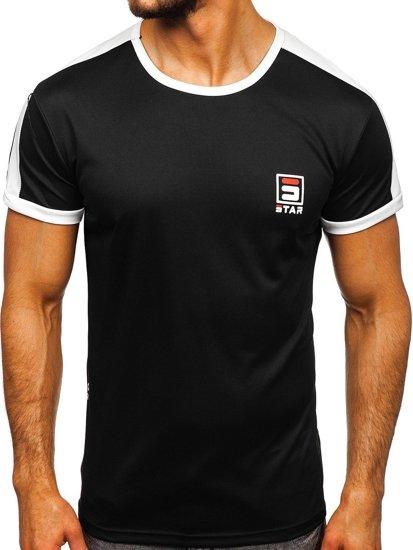 Černé pánské tričko s potiskem Bolf SS10990