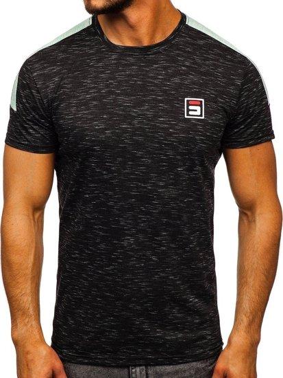 Černé pánské tričko s potiskem Bolf SS11127
