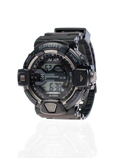 Černo-grafitové pánské hodinky Bolf 9985