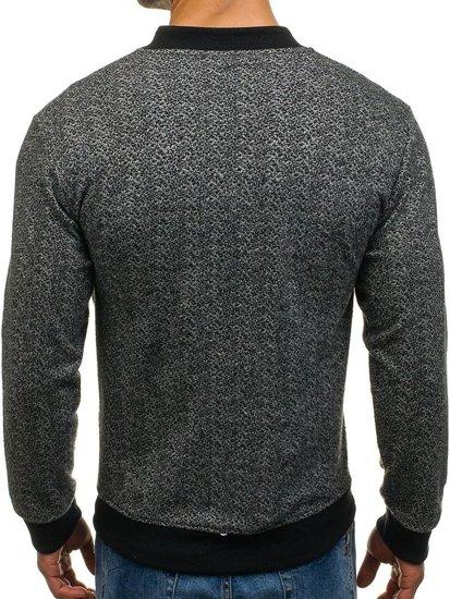 Černo-šedá pánská sportovní přechodová bunda Bolf 0927-8