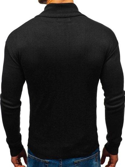 Černý pánský propínací svetr Bolf BM6112