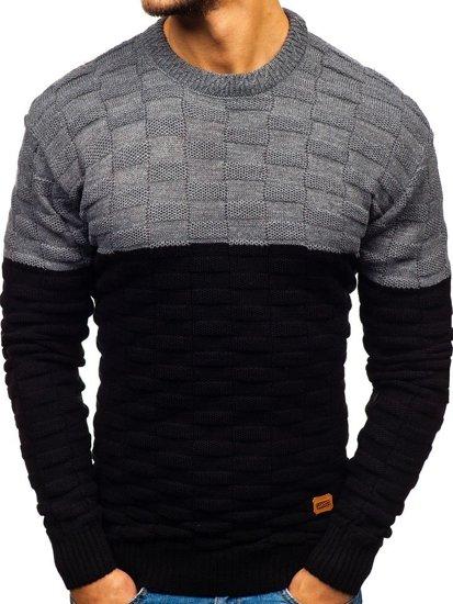 Černý pánský svetr Bolf 6003