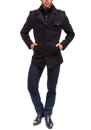 Černý pánský zimní kabát Bolf 8853B