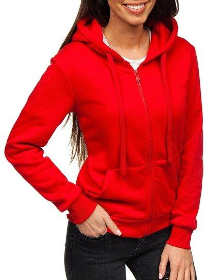 Červená dámská mikina s kapucí Bolf WB1005