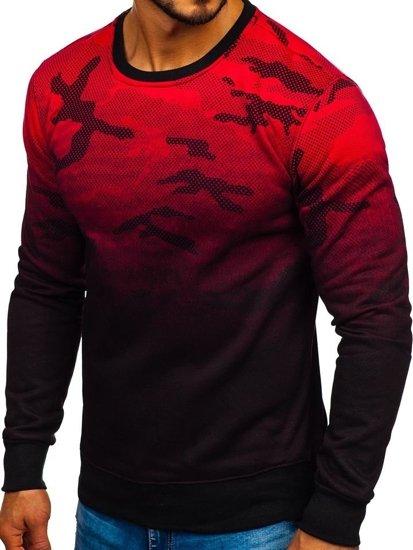 Červená pánská mikina bez kapuce Bolf DD130-2