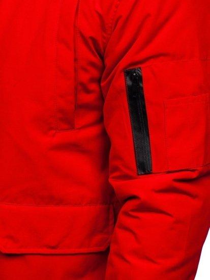 Červená pánská přechodová bunda Bolf 2019005