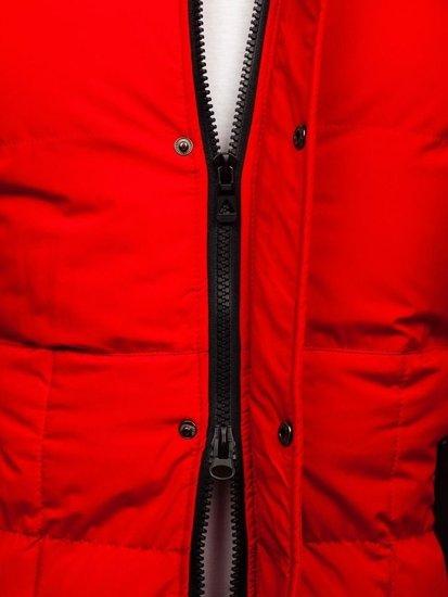 Červená pánská zimní parka Bolf 5857