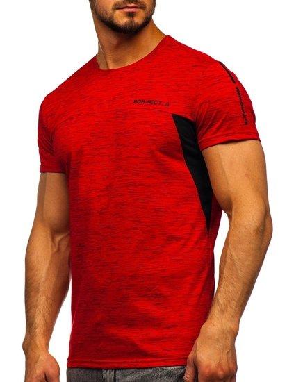 Červené pánské tričko s potiskem Bolf SS11126