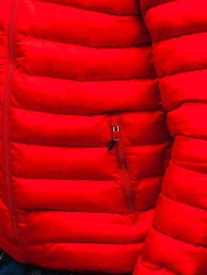 Červeno-černá pánská sportovní zimní bunda Bolf SM17