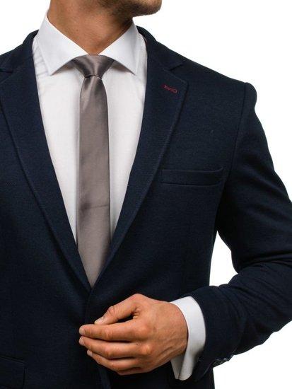 Grafitová pánská elegantní kravata Bolf K001
