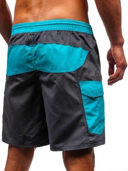 Grafitové pánské koupací šortky Bolf 352
