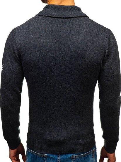 Grafitový pánský svetr Bolf 19022