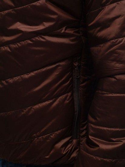 Hnědá pánská sportovní přechodová bunda Bolf 139
