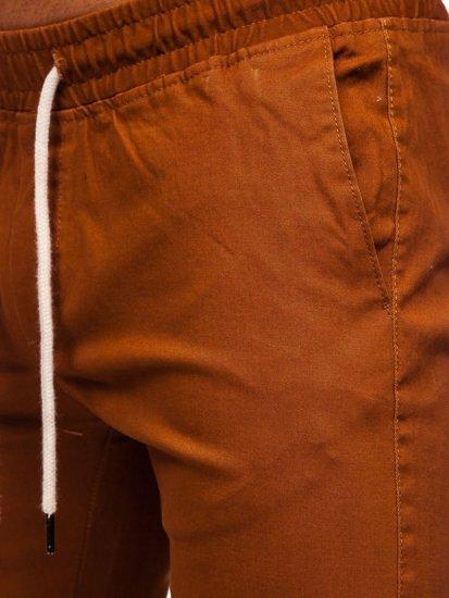 Hnědé pánské jogger kalhoty Bolf 1145