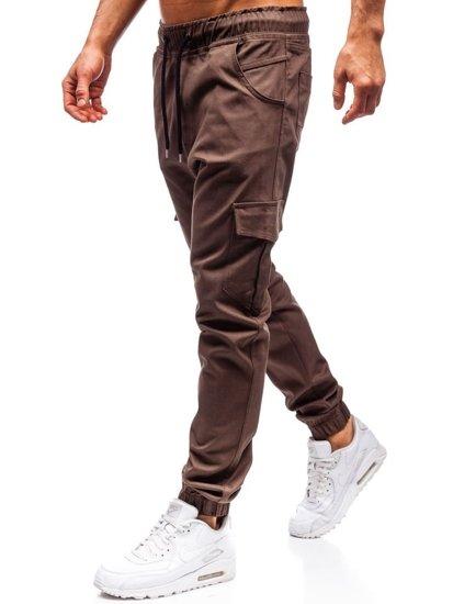 Hnědé pánské jogger kapsáče Bolf 0404